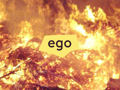 ego fire brandon text cutout