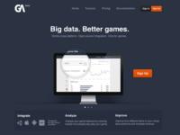 Game Analytics landing page
