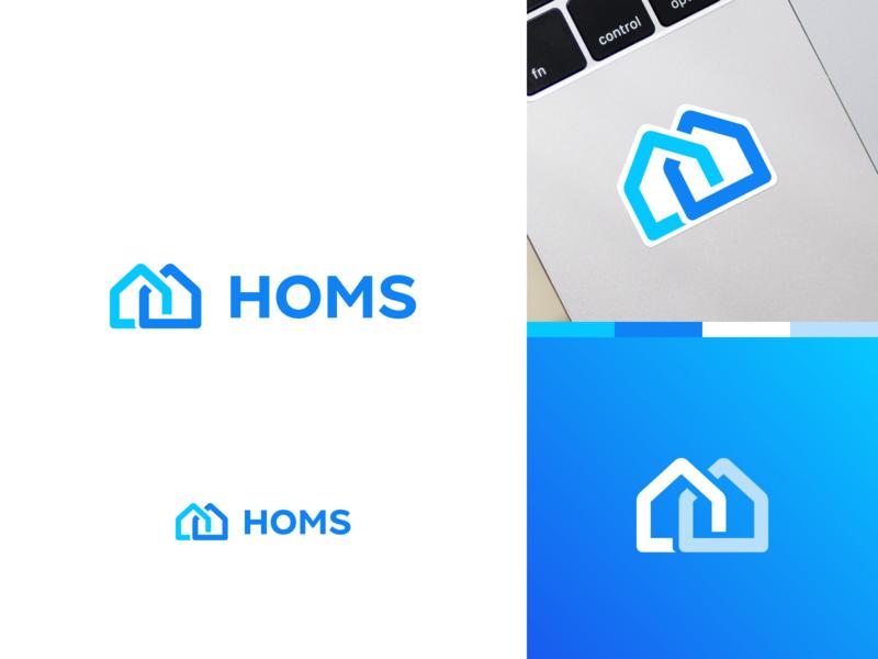 HOMS Logotype / Branding neighborhood house social network homs homes design logo