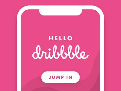 Hello Dribbble! ui iphone mobile design first shot intro hello world hello dribbble