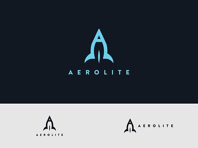 Aerolite - Rocketship Logo - DLC:01 nasa tesla spacex space brand identity brand and identity brand logo dailylogo dailylogochallenge