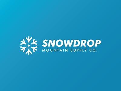 Snowdrop - Ski Mountain Logo - DLC:02 outdoor clothing brand clothing mountain snow challenge logo design brand identity dailylogo dailylogochallenge