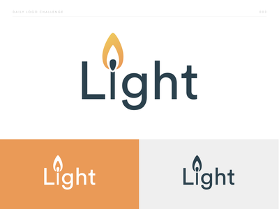 Light - Flame Logo - DLC:003 flame logo firewood fire flame brand identity challenge brand and identity logo brand design dailylogo dailylogochallenge