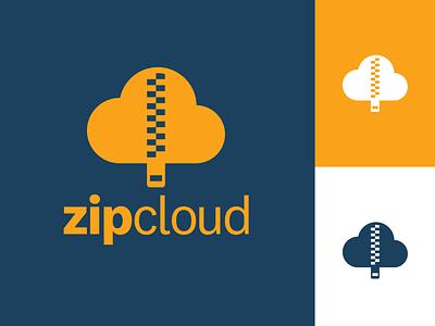 zipcloud - Cloud Computing Logo - DLC:004 cloud app upload file storage storage startup logo startup technology high tech tech cloud computing cloud vector brand identity challenge brand and identity brand logo design dailylogo dailylogochallenge
