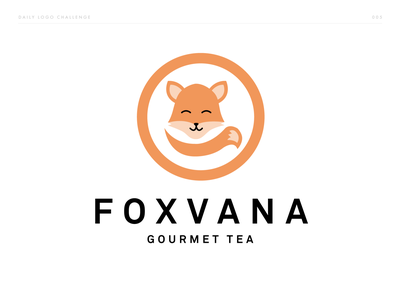 Foxvana - Fox Logo - DLC:005 challenge branding gourmet illustration animal tea logo tea fox vector brand and identity brand logo dailylogochallenge dailylogo brand identity