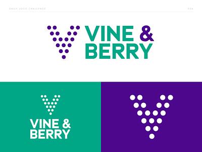 Vine & Berry - Geometric Logo - DLC:006 wine bar wine berries vineyard daily vine  berry vine and berry berry vine typography branding vector challenge brand and identity brand identity brand logo design dailylogochallenge dailylogo