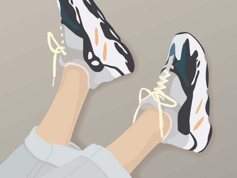 Yeezy Boost 700 Illustration kanye west oregon portland yeezy 700 yeezy boost 700 wave runners adidas yeezy adidas shoes yeezy adidas illustrator flat illustration fashion graphic design digital illustration digital art fashion illustration digital design adobe illustrator