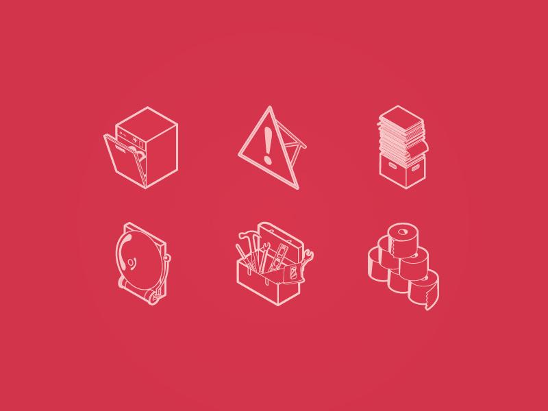 FM icons icons illustration design manchester alarm toolbox paper warning