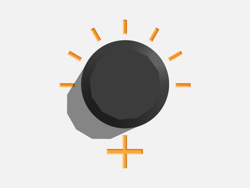 Dial Icon symbol volume orange knob speaker dial illustration design icons icon