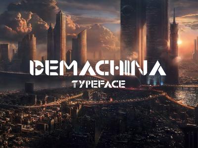 Demachina Typeface font allcaps type typogaphy typeface. lettering typeface design typeface font family fonts font design font