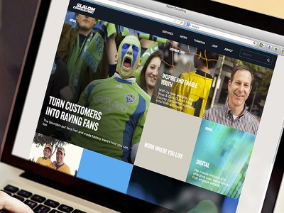 Slalom.com website on desktop desktop responsive design ux drupal cms design website visual design web design interactive