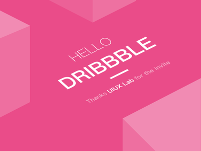 Hello Dribbble! shot first