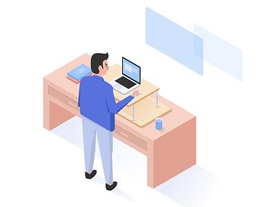 Developer are working illustrations