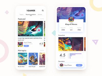 Game community app uiux