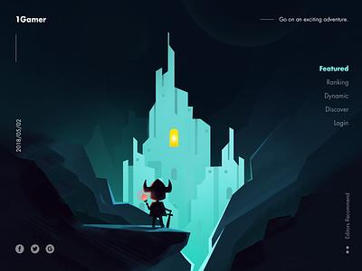 Dark castle illustration