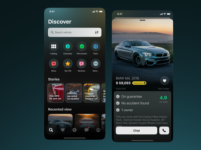 Car classified app app classified car clean product ios mobile concept