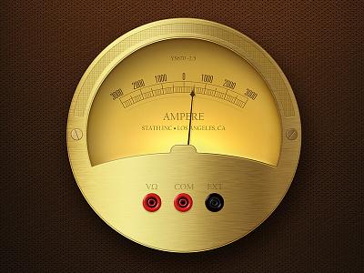 Ampere Meter illustration photoshop ampere meter