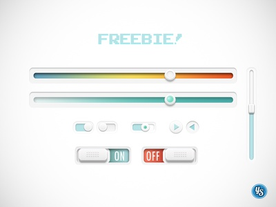 Switches & sliders switch ui freebie download psd