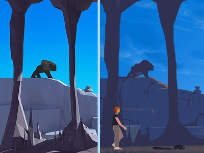 Another World 3d maya low poly another world video game