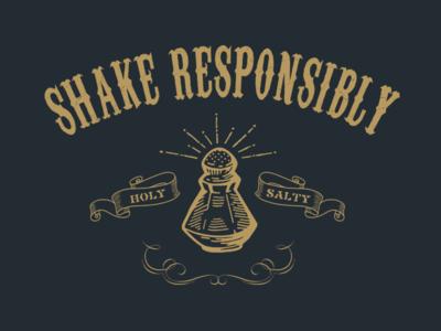 Holy Salty vintage illustration t-shirt