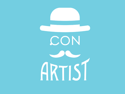 Con Artist  logo illustration vintage illustrator