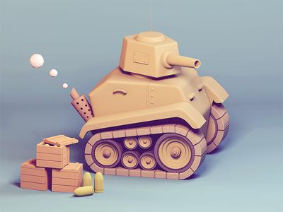 Just a small tank 3d maya tank mental ray