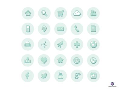 Freebie - Web Icons illustration freebie web icons
