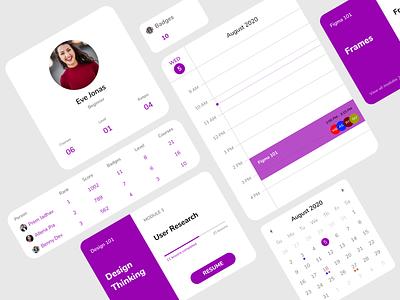 EdTech App Components mobile app design color typography user experience educational app ui design components mobile app edtech