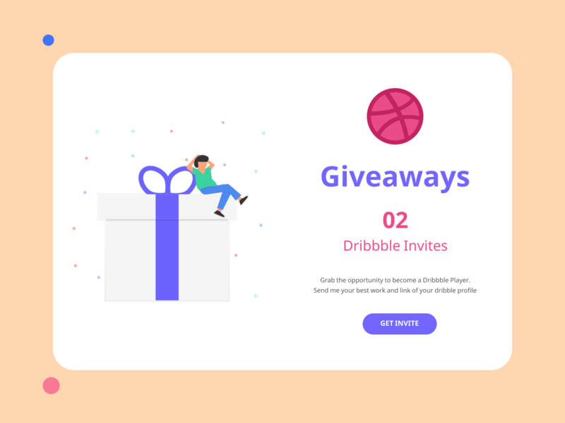 02 Dribbble Invites Giveaways mobile app design mobile app product design web design illustration branding typography color dribbble invitation dribbble invite