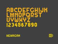 Hexagan typeface