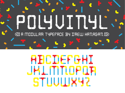 Polyvinyl Modular Typeface free illustrator modular typography typeface font