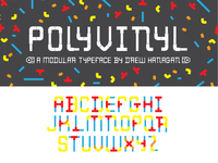 Polyvinyl Modular Typeface