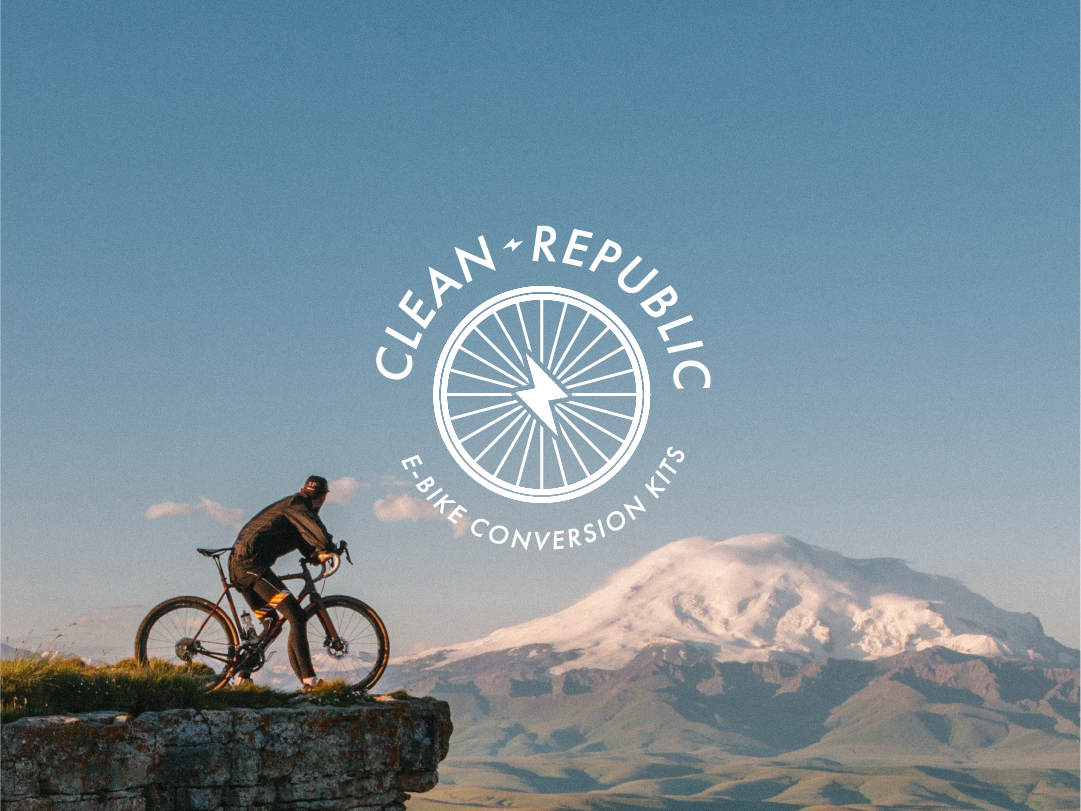 Clean Republic Logo geometry design e-bike minimalism logo eco friendly sustainability