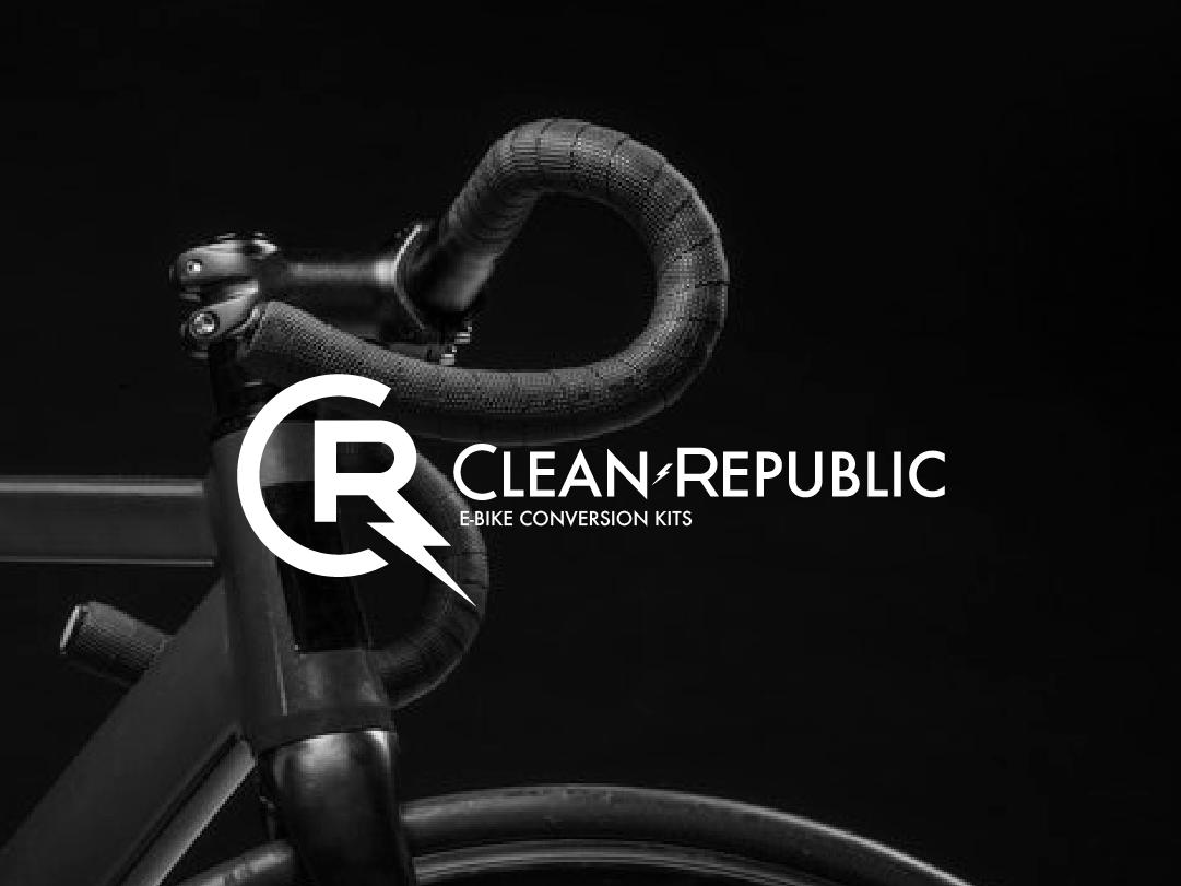 Clean Republic Logo #2 logo geometry e-bike typography logo design branding