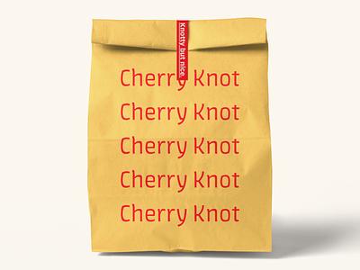 Cherry Knot Bag pink red orange minimal liquor ice cream cherry business card alcohol adobe live challenge adobe live adobe