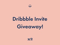 Dribbble Invite Giveaway x2 smiley face join dribbble join draft dribbble draft giveway invites invite dribbble giveaway dribbble invites dribbble invite dribbble