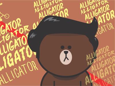 Line_friend customized animation vector icon illustration design