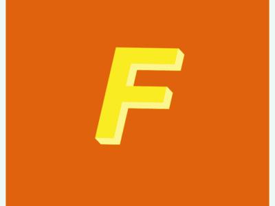 F mark adobeillustator vector illustration typography