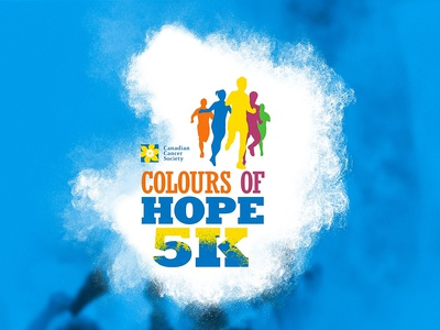 Canadian Cancer Society yellow running blue brand design graphic design design logo