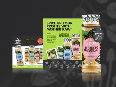Mother Raw food retail green design packaging mockup packaging design packaging