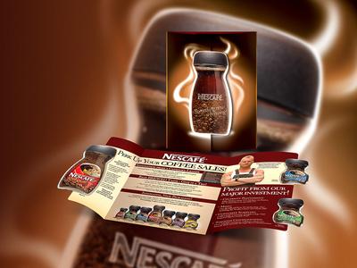 Nestlé® Nescafé® campaign brand design product design sell sheet brochure brown nescafe nestle illustration branding coffee