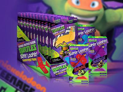 Nickelodeon Teenage Mutant Ninja Turtles packaging design package design purple green turtle character turtles tmnt illustration product design