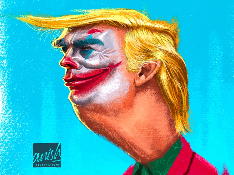Donald Trump republic united states of america politics politician wacom intuos concept art caricature procreate photoshop illustration drawing design