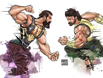 Baahubali illustration characters character design wacom intuos concept art photoshop procreate illustration drawing design