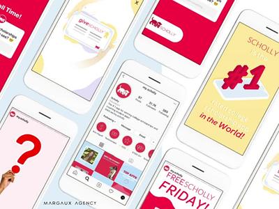 Scholly Social Media Branding socialmedia instagram animation design brandstyleguide branding socialmediabranding scholly