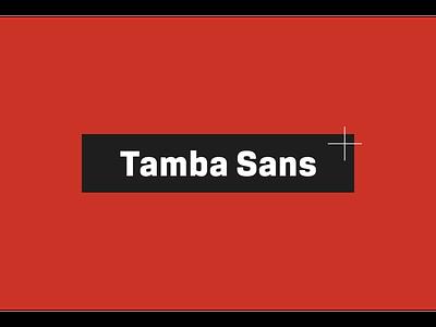 Tamba Sans type design typeface font