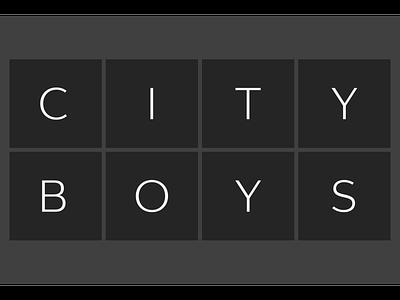 City Boys font