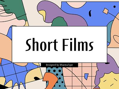 Short Films type font design type design typeface font
