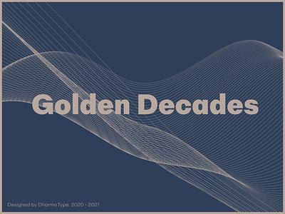 Golden Decades type font design type design typeface font