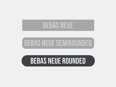 Bebas Neue Rounded type typeface font design type design font